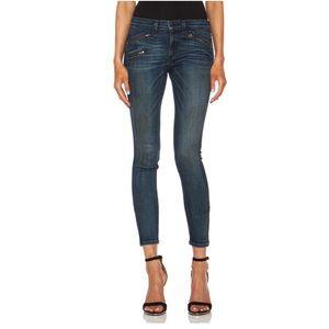 Rag & Bone Zipper Moto Ankle Skinny Jeans
